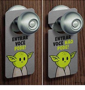 Aviso de Porta Mestre Yoda