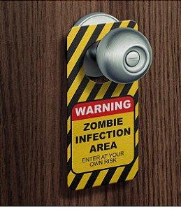 Aviso de Porta Zombie