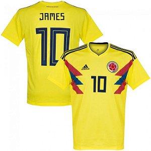 Camisa Adidas Seleção da Colombia Home 2018 2019-James Nº10 869532f9b3997