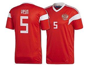 Camisa Adidas Seleção da Russia Home 2018 2019-Vasin Nº5 163deba791436