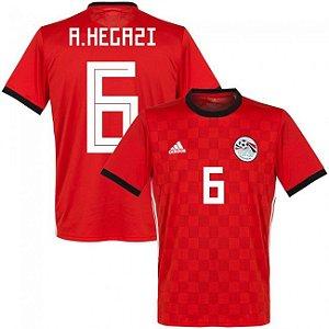 Camisa Adidas Seleção do Egito Home 2018 2019-A.Hegazi Nº6 b37af7b3a51fe