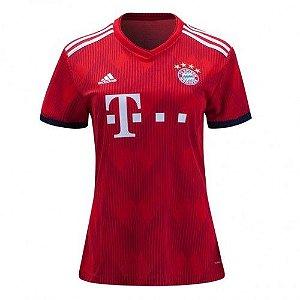 Camisa Feminina Bayern Munich Home 2018/2019-S/N