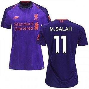 Camisa Feminina Liverpool Away 2018/2019-M.Salah N.º11