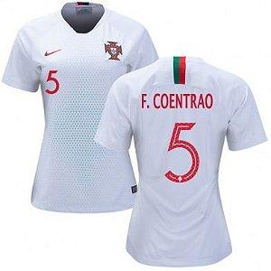 Camisa Feminina Seleção de Portugal AWAY 2018/2019-Coentrao N°5