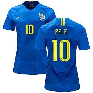 Camisa Feminina Seleção do Brasil Away 2018/2019-Pelé N°10