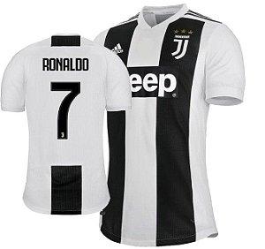 7c6efef266 Camisa Juventus da Itália Home 2018 2019-Cristiano Ronaldo Nº7