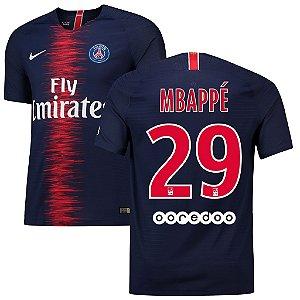 53a6b16a348ca Camisa Paris Saint Germain Psg Home 2018 2019-Mbappé Nº29