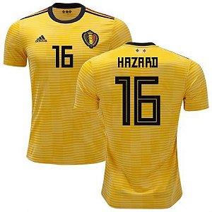 Camisa Seleção da Bélgica Away 2018 2019-Hazard Nº16 3207ddd421cb1
