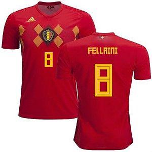 Camisa Seleção da Bélgica Home 2018 2019-Fellaini Nº8 8663f17ea8c1b