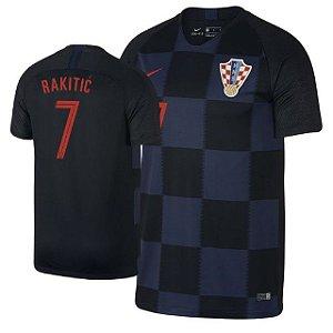 Camisa Seleção da Croacia Away 2018/2019-Ivan Rakitic Nº7