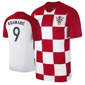 Camisa Seleção da Croacia Home 2018/2019-Kramaric Nº9