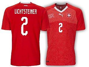 Camisa Seleção da Suiça Home 2018/2019-Lichtsteiner Nº2