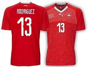 Camisa Seleção da Suiça Home 2018/2019-Rodríguez Nº13