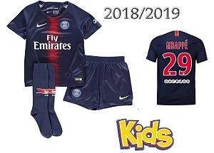 kit Infantil Paris Saint Germain Psg HOME 2018/2019-Mbappé Nº29