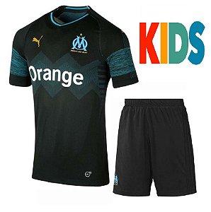 Kit Infantil Olympique De Marseille Away 2018/2019-S/N