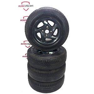 Jogo de rodas esportivas aro 13 furação Ford 4x108