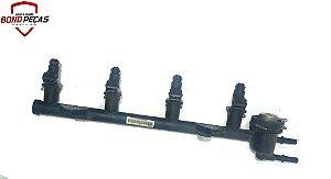 Flauta com bicos injetores do Fiesta Rocan 1.6 8v 09 á 11