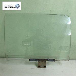 Vidro da porta direita do Gol quadrado - Original - Sekurit