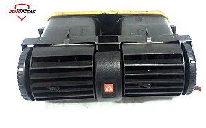 Difusor De Ar Central C/ Botão Alerta Astra 1999 á 2005