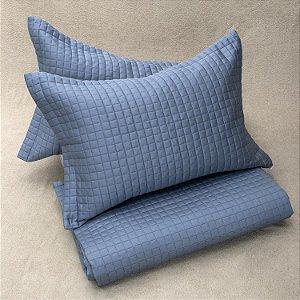 Colcha Bud Vision New Colors + Porta Travesseiro Azul
