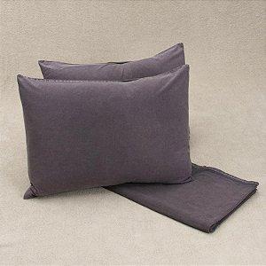 Colcha Stone + Porta travesseiro Cinza