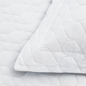 Colcha Matelassê Vida Bela + Porta Travesseiro Branca