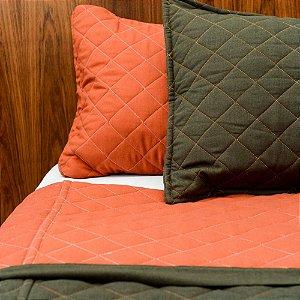 Colcha Linho Granada Rusted + Porta Travesseiro