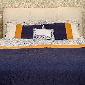 Colcha Linho Cedro Marítimo + Porta travesseiro
