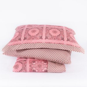 Colcha + Porta Travesseiro Dupla Face Aruba Rosa