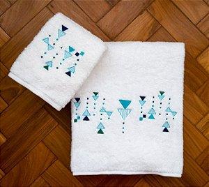 Toalha Triângulos Branca