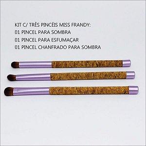 Kit com 3 pincéis - Miss Frandy