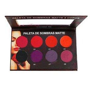 PALETA 8 SOMBRAS MATTE COLORIDA - LUDURANA  (VALIDADE: 06/21)