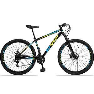 """Bicicleta Aro 29 GT SPRINT 21v Freio a disco Mecânico PRETA/AZUL - Quadro 17"""""""