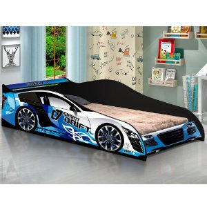 Cama Carro Drift Azul Infantil - J & A Móveis