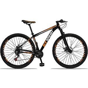 "Bicicleta Aro 29 Spaceline Azul/Rosa Quadro 15""  / Bicicleta Aro 29 GT Sprint Preta/Laranja Quadro 19"""