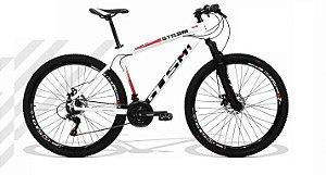 """Bicicleta GTSM1 Branco/Preto Aro 29 Freio a Disco 21V - Quadro 19"""""""