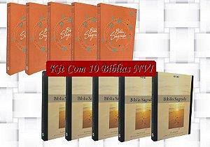 Atacado de 10 Bíblias NVI- capa Brochura