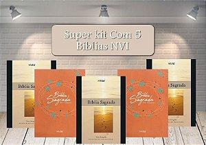 Atacado de 5 Bíblias NVI Capa Brochura