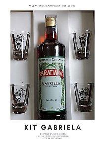 kit Gabriela Cravo e Canela 700ml + 04 Copinhos O Alambiqueiro