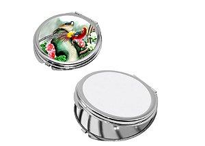 Espelho Estojo de Bolso Compacto Redondo 6,2 X 6,6cm em Metal Para Sublimação (2391) - 01 Unidade