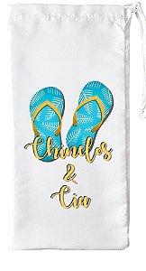 Bolsa Saquinho de Chinelo Infantil para Sublimação Tecido Poliéster 14,5 x 24,5 cm (1.M012) - 01 Unidade