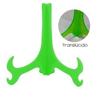 Suporte Médio Verde Neon Translúcido para Prato Azulejo 11,5x9cm (o Par)
