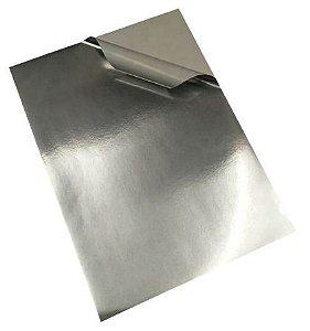 Vinil Adesivo Prata Para Sublimação Tamanho A4 (285) Para Tinta Sublimática - 01 Folha