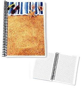 Caderno Grande Para Sublimação - A4 20x28 cm - Pautado Laminado de PVC 0,40mm (150 páginas - 75 folhas)