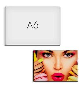 Placa A6 10x15 cm Para Sublimação Laminado de PVC 0,40mm - Pacote c/ 10 Unidades