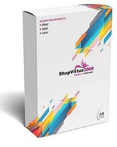 Vinil Adesivo Laser Transparente A4 (104) - 100 Folhas (Pacote Fechado)