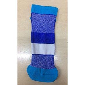 Meia Pilates Antiderrapante Poliamida Tamanho XG (39/43) Azul Para Sublimação - 01 Par (1910)