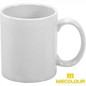 Caneca Cerâmica Branca Classe AAA Mecolour Premium 325ml Resinada P/ Sublimação (B001) - 01 Unidade
