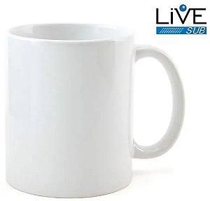 Caneca Cerâmica ShopVirtua3000® Branca Classe +AAA 325ml Importada Resinada P/ Sublimação (319) - 01 Unidade