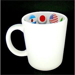 Caneca Cerâmica 325 ml Branca Motto Mug - Bandeiras ShopVirtua3000® (1935) - 01 Unidade